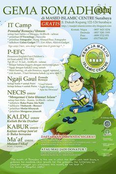 Gema Romadhon 1434H Selama bulan Ramadhan Di Masjid Islamic Centre Surabaya Jl. Dukuh Kupang 122 – 124 Surabaya  http://eventsurabaya.net/gema-romadhon-1434h/