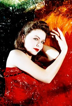Portrait of Jeanne Crain 1940s.