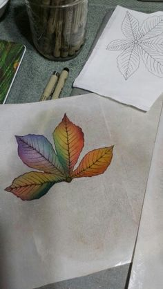 Coloring appliques for an Autumn theme art quilt.