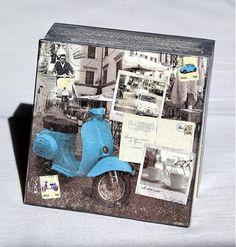 bibidekoracie / Modrý moped