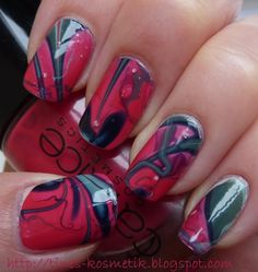 Tines Kosmetikblog: Water Marble Nails - ein Versuch…