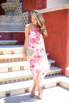 Love this floral maxi dress for Mexico