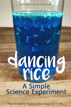 Science for Kids: Magic Dancing Rice Experiment - Green Kid Crafts Kid Science, Kitchen Science, Science Experiments For Preschoolers, Science Projects For Kids, Cool Science Experiments, Summer Science, Science Education, Art Projects, Physical Science
