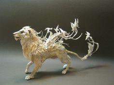 """*Sculpture - """"Lion"""" by Ellen June"""