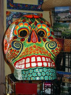 giant paper mache skull | Flickr - Photo Sharing!