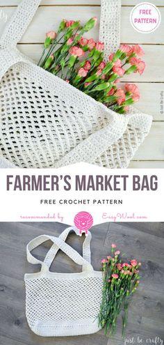 Farmer's Market Bag Free Crochet Pattern on easywool.com
