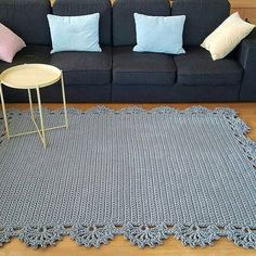 Hall Carpet Runners For Sale Crochet Doily Rug, Crochet Carpet, Crochet Flower Patterns, Crochet Home, Diy Carpet, Rugs On Carpet, Hall Carpet, Baby Girl Crochet, How To Clean Carpet