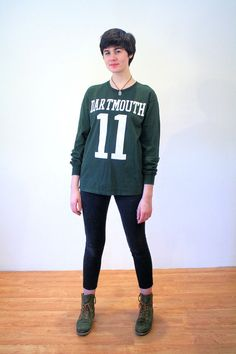 90s Dartmouth College Jersey Number 11 Tee Dark by MorningGlorious