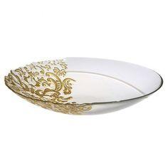 Μπωλ Amjelique Γυάλινο σε Χρυσό Χρώμα 40cm