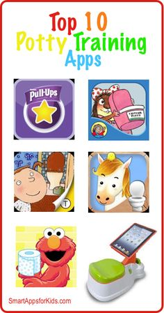 Top Ten Potty Training Apps for Kids (Five of them are FREE) http://www.smartappsforkids.com/2014/05/top-ten-potty-training-apps-for-kids-five-of-them-are-free.html