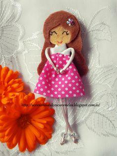Quecas de Fieltro / Dolls felt  Mod12  http://accesoriosdulcescaramelos.blogspot.com.es/search/label/Mu%C3%B1ecas%20%28Quecas%20de%20Fieltro%29