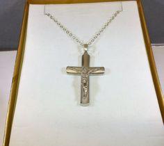 Alter Anhänger Silber 925 Jesus Kreuz groß SK559 von Schmuckbaron