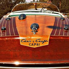 Boat Photography- Vintage mid century Chris Craft runabout