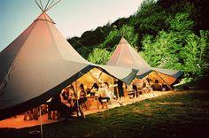 Tee Pee turned event tent, Love it.