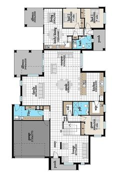 Romulus 51 House Granny Flat Design, Award winning multi-generational living, independent, private - Flexible options for knockdown rebuild or your new home House With Granny Flat, Granny Flat Plans, Home Design Images, New Home Designs, Dream House Plans, My Dream Home, Home And Family, Family Homes, House Blueprints