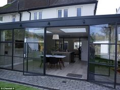 Ugly House to Lovely House with George Clarke - Articles - Episode Jo Cowen – Croydon - Channel 4 Council House Renovation, Crittal Doors, Crittall Windows, Glass Extension, Side Extension, Extension Ideas, George Clarke, House Extension Plans, 1950s House