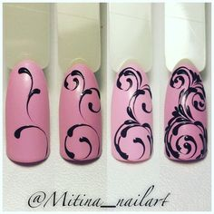 Opting for bright colours or intricate nail art isn't a must anymore. This year, nude nail designs are becoming a trend. Here are some nude nail designs. Swirl Nail Art, Nail Art Diy, Easy Nail Art, Acrylic Nail Designs, Nail Art Designs, Acrylic Nails, Nail Manicure, Diy Nails, Nail Art Arabesque