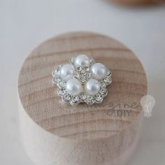 Pretty pearl and crystal embellishment for DIY wedding stationery and invitations. Paper craft