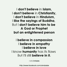Closer than any religion so far. .......