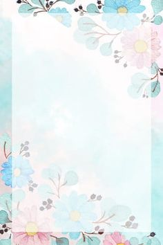 Hand Painted Watercolor Romantic Floral Illustration Flower Fairy H5 Background