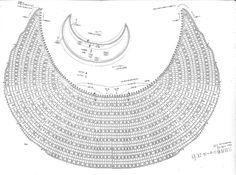"A Punto de Red . Patrones: Explicaciones Chal a crochet ""Crescent Moon"""