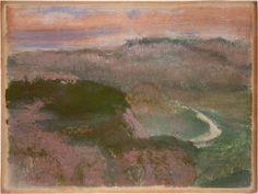 Landscape, Edgar Degas, 1892