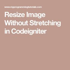 Resize Image Without Stretching in Codeigniter