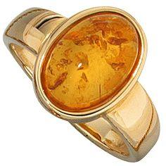 SIGO Ladies Ring 585 Gold Yellow Gold 1 Amber Orange Amber Ring Gold Ring Order now at: mode. Ringe Gold, Gold Rings Jewelry, Amber Ring, Omega Watch, Lady, Accessories, Orange Yellow, Rings, Princess Cut