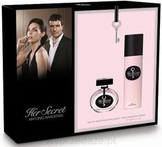 Antonio Banderas Her Secret 50 ml woda toaletowa damska + 150 ml deo spray ZESTAW