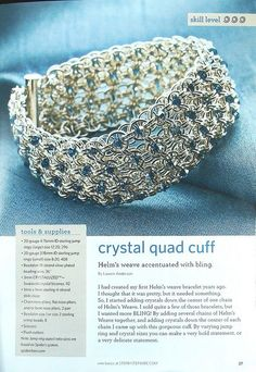 instructions for chain mail cuff - #chainmaille #diy #bracelet