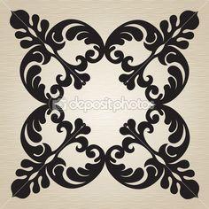 Вектор барокко орнамент в викторианском стиле. богато элемент дизайна. инструментарий для дизайнера. он может быть использован для украшения свадебных приглашений, открыток, украшения для сумок и одежды