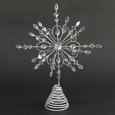 Metal wire star burst tree topper