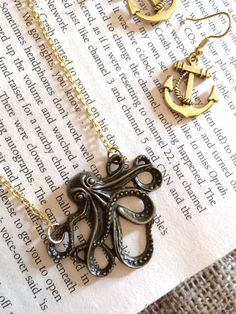 Octopus Necklace by AvecAmourLauren on Etsy
