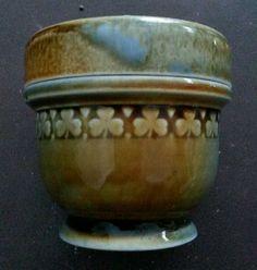Vintage Irish Porcelain Wade Single Egg Shamrock Coddler #Wade