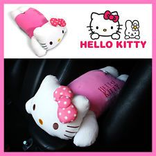 Hello Kitty Armrest Cushion Pink Bow Pillow Cushion Consoles Auto  Accessories Car Interior Accessories 2f03086832d5