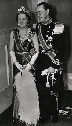 Queen Juliana of the Netherlands and Prince Bernhard. Grandparents of King Willem-Alexander
