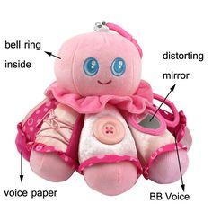 Детские погремушки Осьминог Игрушки кровать висит Колокол для BB волшебное зеркало младенческой куклы прорезыватель образовательные игрушки рождественский подарок
