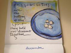 """""""Possibilidades são os botões do nosso espírito...Elas mantêm nossos sonhos de pé."""" Feliz Dezembro"""