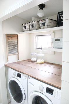 Cool 75 Small Laundry Room Storage and Organization Ideas https://decorapatio.com/2017/09/17/75-small-laundry-room-storage-organization-ideas/