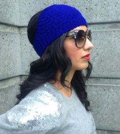 introducing the bean band - a headband from the side (beanie in the front)