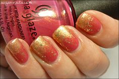 lovely pink gold gradient