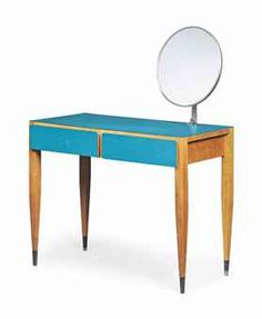 A Gio Ponti Walnut And Laminate Dressing Table, Circa 1950s