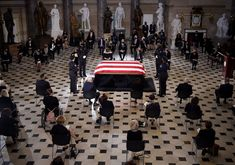 Ruth Bader Ginsburg becomes the first woman to lie in state at the U.S. Capitol