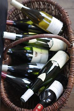 Basket of french wine