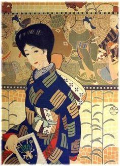 Sugiura Hisui 杉浦非水 (1876-1965) Mitsukoshi kimono shop 三越呉服店 advertising poster - 1910s