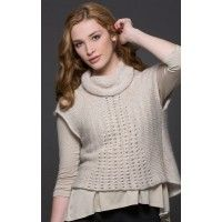 Pier Hi-Lo Vest in Gioiello and Nirvana Pattern - Cardigans, Jackets, and Vests - Patterns - Knitting | InterweaveStore.com
