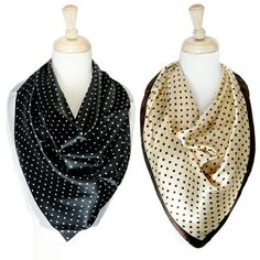 Polka dot interchangeable fashion scarf. Ordering info @ virtuousboutique31@gmail.com