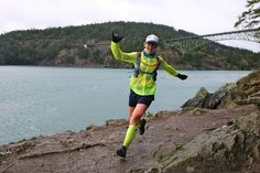 [#MotivationMonday] There's no such thing as bad weather, only unsuitable attitudes! Gina Crosswhite proves it every day she's out running in the rain, wind and mud with a huge grin on her face. [p: @happytrigirl] #rungram #stepintosuperfeet #deceptionpass50k #runhappy