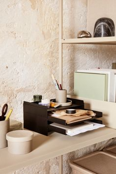 Master the art of organizing with the sleek and sturdy 2x2 Organizer, designed by Jamie Wolfond. Taking its name from the two pieces of metal that are bent and soldered together to create separate trays that can be stacked on top of each other, the minimalist design keeps desks tidy in style.