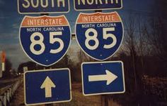 I-85 Under Construction Theme, Iron Gates, Roads, North Carolina, Signs, Classic, Derby, Iron Doors, Road Routes